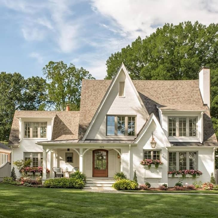 Farmhouse exterior with french country vibes