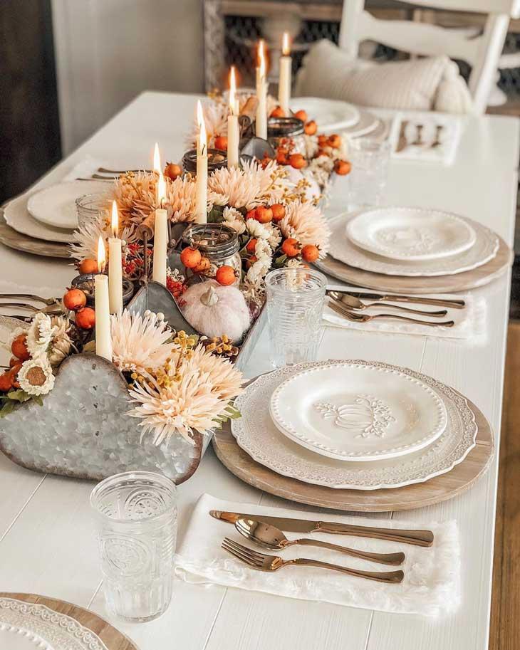 rustic thanksgiving table decor, fall table decor