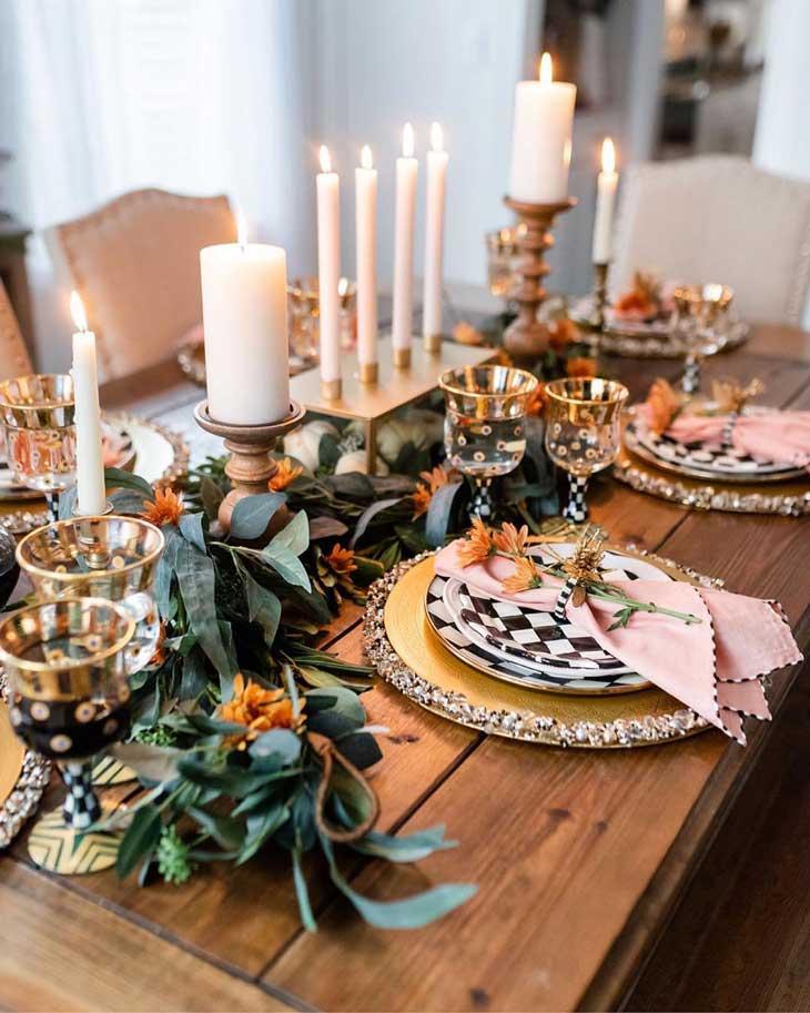 modern farmhouse thanksgiving table decor