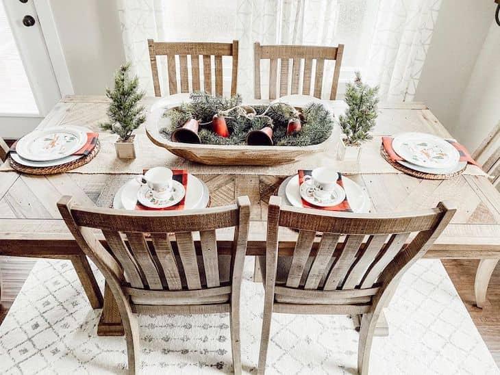 Christmas tablescape, Christmas dining table decor