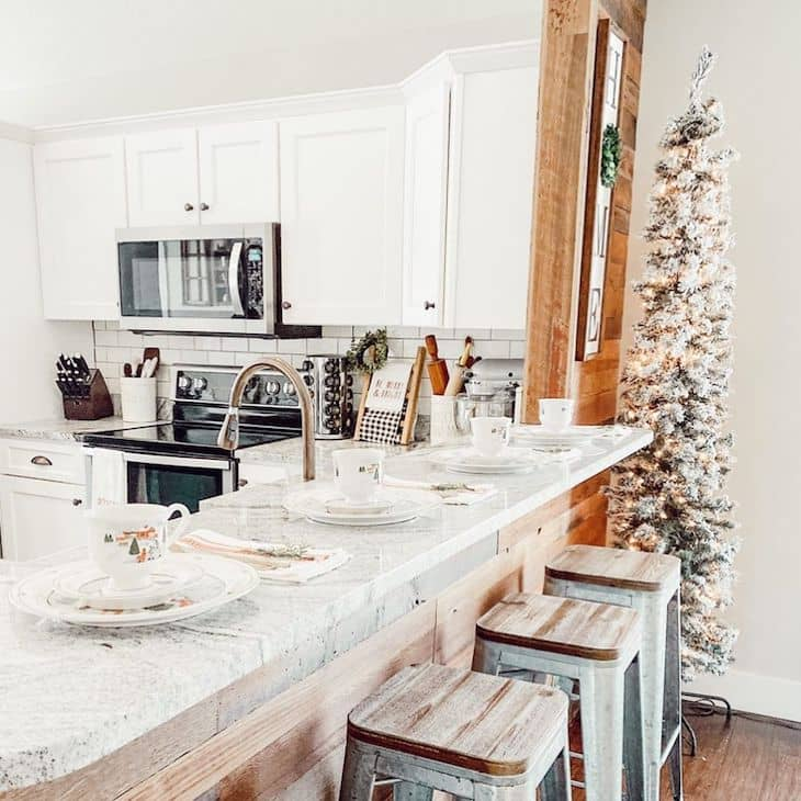 Pencil Christmas tree for kitchen