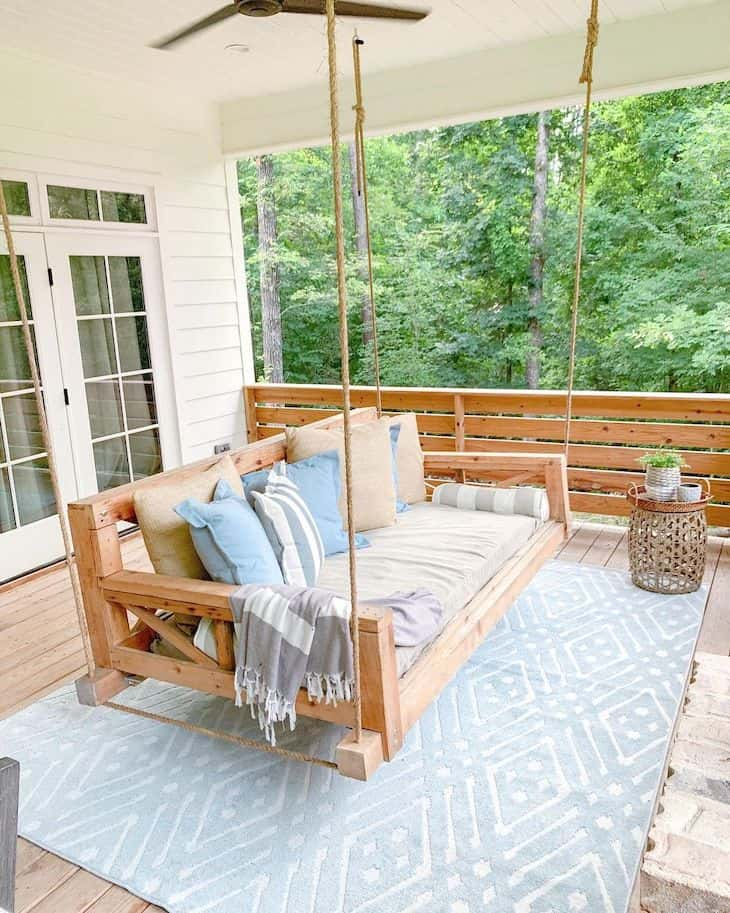 swing porch on back patio