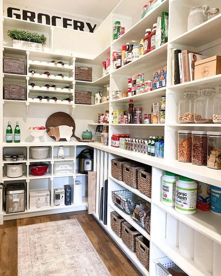 walk-in pantry with storage