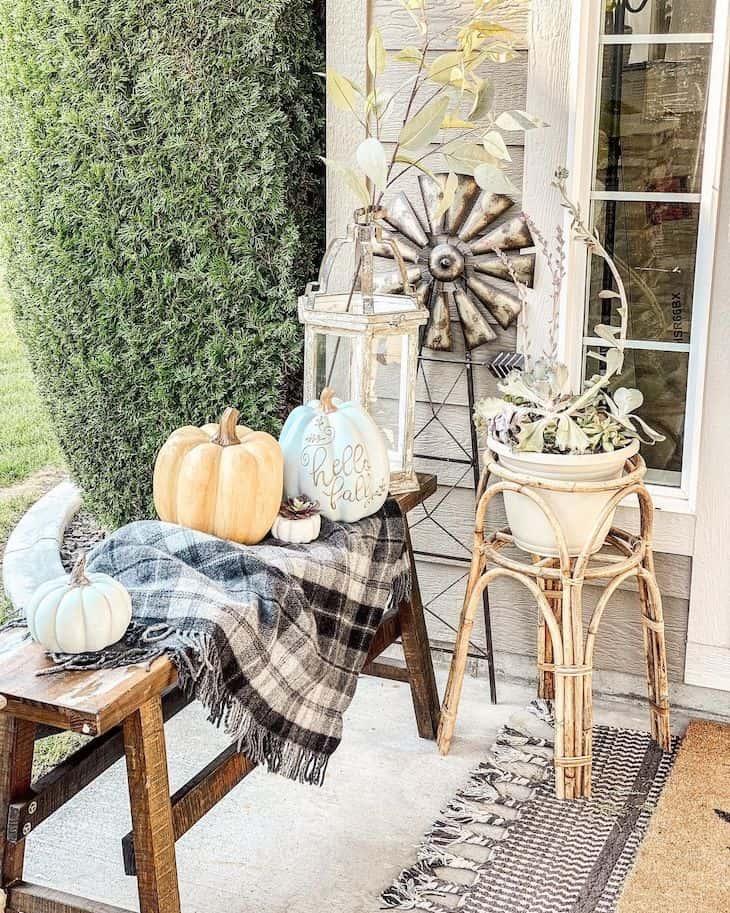 Rustic outdoor fall decor